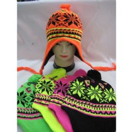 120 of Neon Helmet Hat With Snow Flake Design