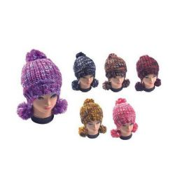 36 of Multicolor Hat With Pom Poms