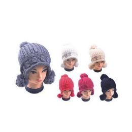36 of Hat With 3 Pom Poms
