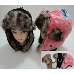 72 of Plush Bomber Hat With Fur Lining