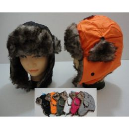 48 of Bomber Hat With Fur LininG--Solid Color
