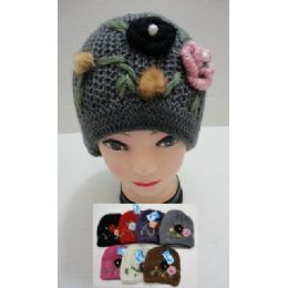 24 of Hand Knitted Fashion CaP--2 Flowers