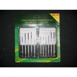 60 of 11 Piece Mini Screwdriver Set In Case
