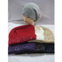 60 of Ladies Angora Hat With Sparkles