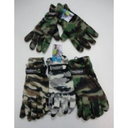 24 of Men's Camo Fleece GlovE-Thermal Insulate