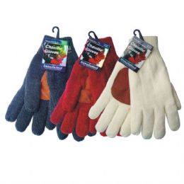 36 of Winter Chenille Glove W/ Leather Palm hd