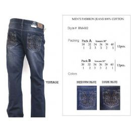 12 of Mens Dark Blue Trendy Jeans