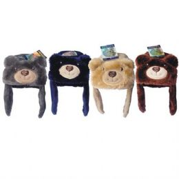 36 of Kids Animal Bear Hat Assorted Colors