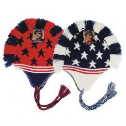 24 of Winter Helmet Mohawk Hat Star & Stripe Unisex