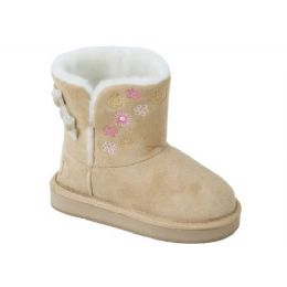 12 of Girls Boots Beige Color