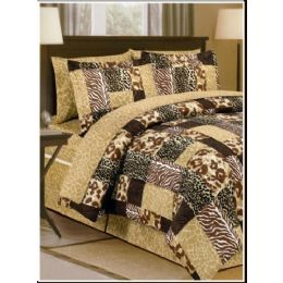 6 of Safari Print Bed In A Bag Queen Size