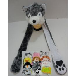 72 of Plush Animal Hats With Hand Warmers (paw Print)