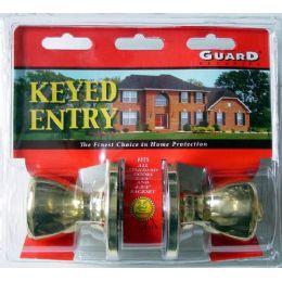 6 of Brass Keyed Entry Doorknob Set