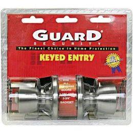 6 of Silver Keyed Entry Doorknob Set