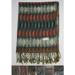 72 of Fashion Pashmina With FringE--Metallic Elliptical Design