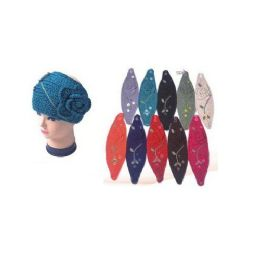 120 of Ladies Ear Warmers With Flower