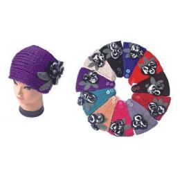 120 of Ladies Winter Ear Warmers With Fuzzy Flower