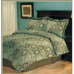 6 of 4 Piece Madrid Comforter Set Twin Size