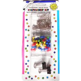 48 of Stationary Value Pack Paper Clips Stick Pins