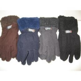 96 of Fleece Gloves W/ Fur Top