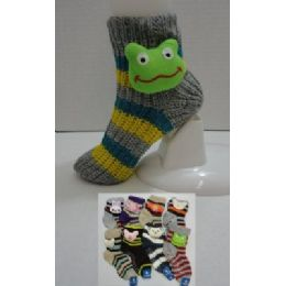 144 of Knit NoN-Slip Striped Booty Socks With Characters 9-11