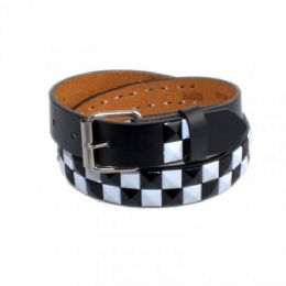 120 of Boys Metal Studded Belts In Black & White