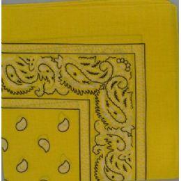 48 of BandanA-Yellow Paisley