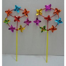 """144 of 7"""" Round Wind Spinner With 8 Pinwheels"""