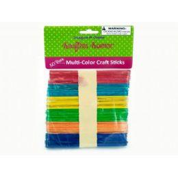 75 of MultI-Color Craft Sticks