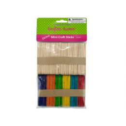 75 of MultI-Colored Mini Craft Sticks