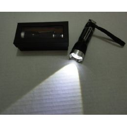 24 of 3w Super Bright Zoom Flashlight With Case [metal]