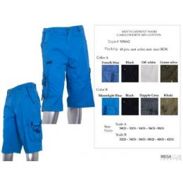 48 of Mens Long Cargo Pants With Belt Size 32-42 100% Cotton