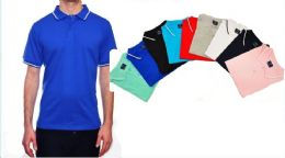 24 of Mens Solid Polo Shirt Jersey Fabric S-xl