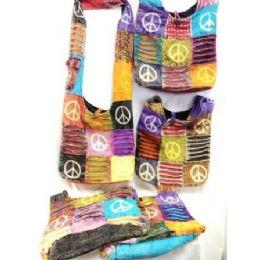 24 of Handmade Hobo Crossbody Sling Purse Peace Signs
