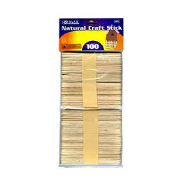 144 of Bazic Natural Craft Stick (100/pack)