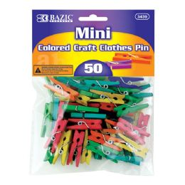 288 of Bazic Mini Colored Clothes Pin (50/pack)