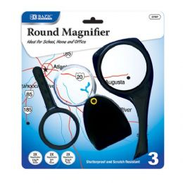 48 of Bazic 2x Magnifier Sets (3/pack)
