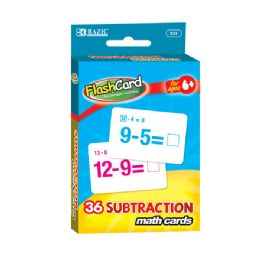 48 of Bazic Subtraction Flash Cards (36/pack)