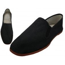 36 of Men's Slip On Twin Gore Cotton Upper With Rubber Out Sole Kung Fu/tai Chi Shoe ( Black Color Only)