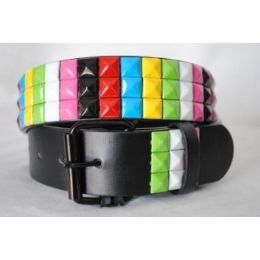 48 of Pyramid Studded Rainbow Belt