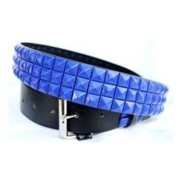 48 of Pyramid Studded Blue Belt