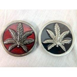 48 of Marijuana Leaf Belt Buckle