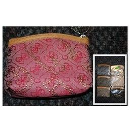 48 of Coin Purse W/ Zipper And Keychain Ring