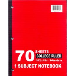 48 of Wireless 1 Subject Notebook Narrow College Ruled