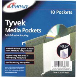 24 of Self Adhesive Cd Pockets