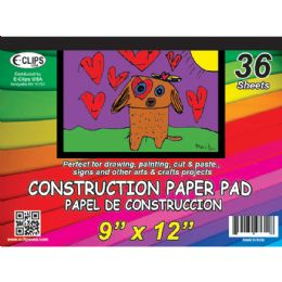 48 of Construction Paper Pad, 9x12, 36 Sheets