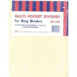 40 of Ampad Pocket Dividers - 5 Pk. - 10 Pockets
