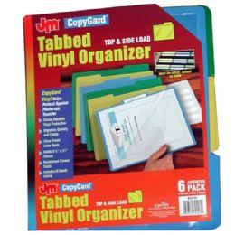 24 of Copy Gard Tabbed Vinyl Organizer 6pk. Top & Side Load