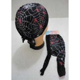 48 of Skull CaP-Red & White Spiders & Web