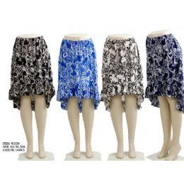 144 of Ladies Printed High Low Skirts